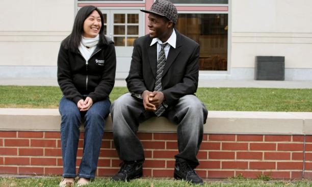 Olivia Quach '12 and Jonathan Ford '12, two of Princeton's QuestBridge scholars.