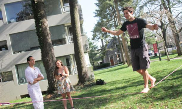 On The Campus Toeing The (slack)line