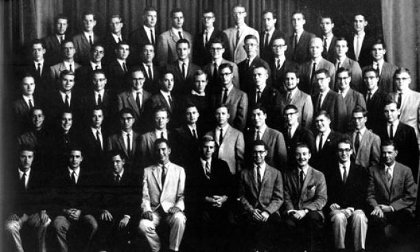 Members of the Woodrow Wilson Society in 1960-61, in a photo published in the Bric-a-Brac.