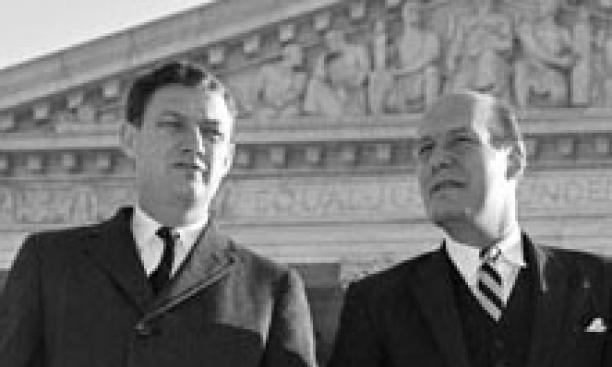 John Doar '44, left, and Nicholas Katzenbach '45