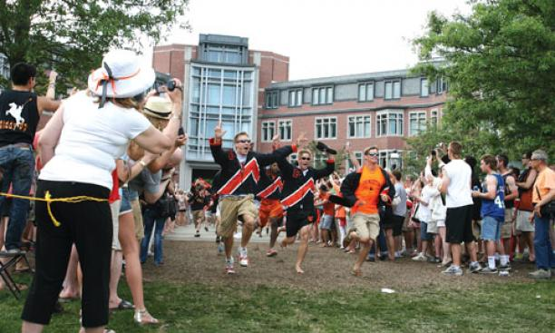SENIOR SPRINT: Princeton's newest alumni.