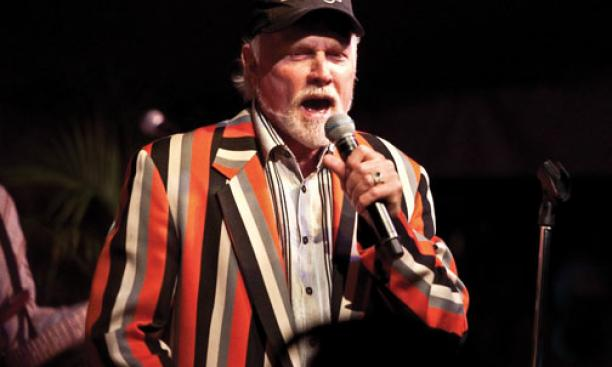 The classes of 1961 and 1971 worked together to bring the Beach Boys to Reunions Friday night. Here is Mike Love, the only original Beach Boy still in the band, in his '71 jacket.