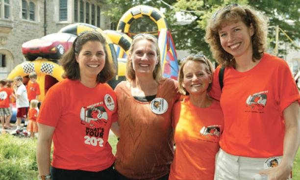 Truckin' with the Class of 1991 are, from left, Joy Sayour Woeber, Marj Lanier Lichtenberger, Alyssa Kuhn McCoy, and Carolyn Bloom.