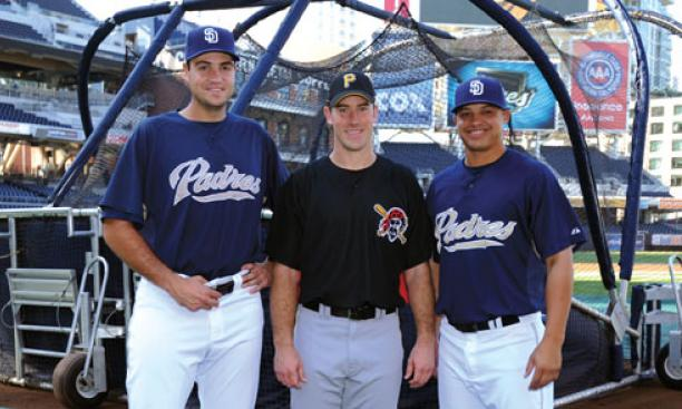 From left: Chris Young '02, Ross Ohlendorf '05, and Will Venable '05