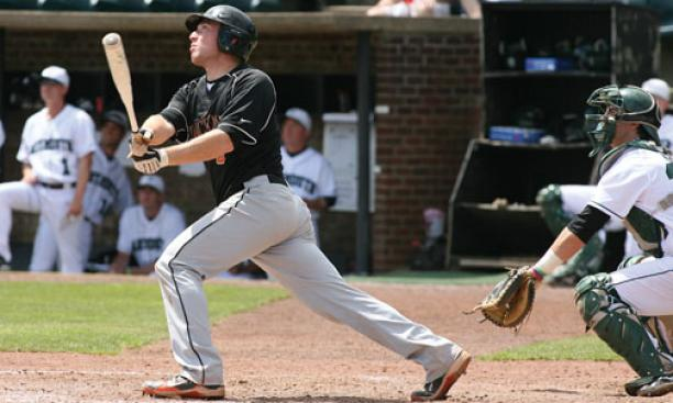 Sam Mulroy '12 was 6-for-11 at the plate against Dartmouth.