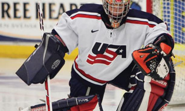 Megan Van Beusekom '04 is training in USA Hockey's Blaine, Minn., residency program.