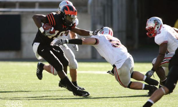 Receiver Trey Peacock '11 has been a bright spot for the 1-4 Tigers.