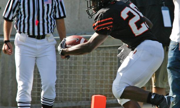 Running back Meko McCray '11's 12-yard run was Princeton's only touchdown against Brown.