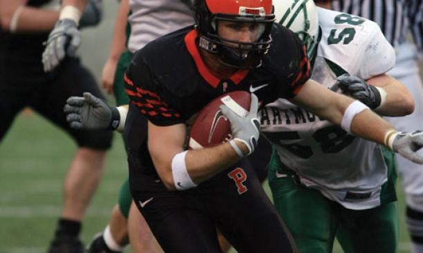 R.C. Lagomarsino '09, above, suffered a concussion vs. Dartmouth in 2006. Dr. Margot Putukian, below, led the development of Princeton's concussion-management plan.