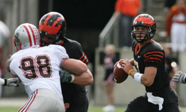 Quarterback Tommy Wornham '12, entering his third year as a starter, missed half of last season due to injury.