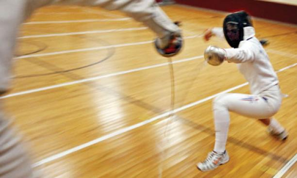 Women's epee star Susannah Scanlan '12 hopes to land a spot on the U.S. Olympic team.