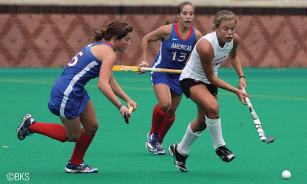 Through Oct. 10, Kat Sharkey '12 led Division I with 20 goals.