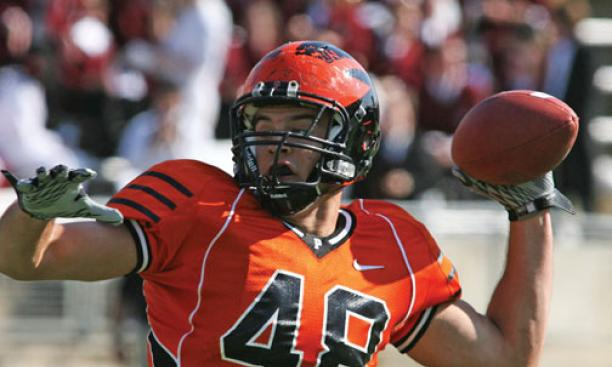 Tight end Harry Flaherty '11