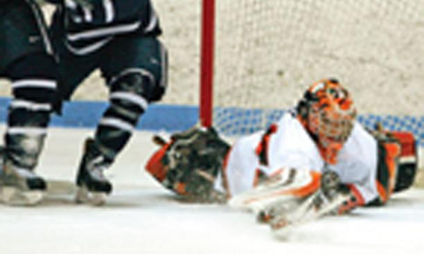 Zane Kalemba '10 held opponents scoreless in three of Princeton's five ECAC Hockey playoff games.