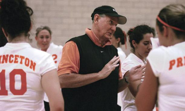 Glenn Nelson coached the women's and men's volleyball teams for nearly three decades.