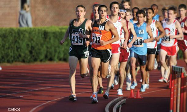 Donn Cabral '12 won two events at the Ivy ­Heptagonals.