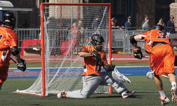 Tyler Fiorito '12 has been solid in goal, but Princeton's offense has not kept up with top opponents.