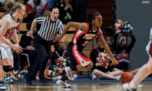 Krystal Hill '11 scored a season-high 13 points against Harvard March 5.