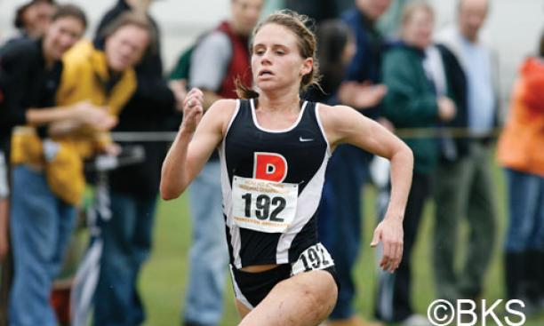 Liz Costello '10 sprinted to a second-place finish at the Mid-Atlantic Regional.
