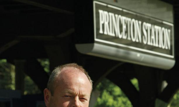 Princeton Borough Council member Kevin Wilkes '83 at the Dinky station.