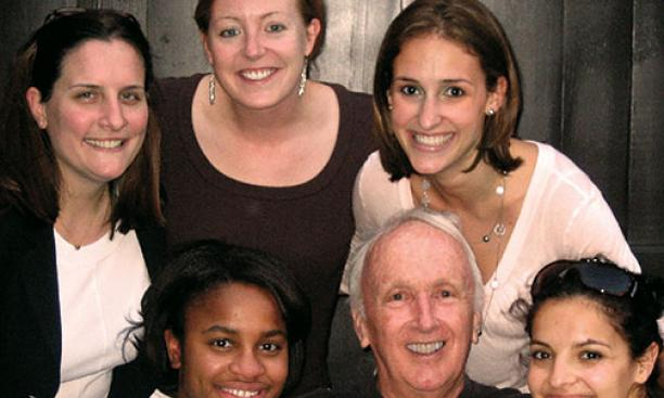 John Hall Fish '55 with Princeton Project 55 fellows in 2007.