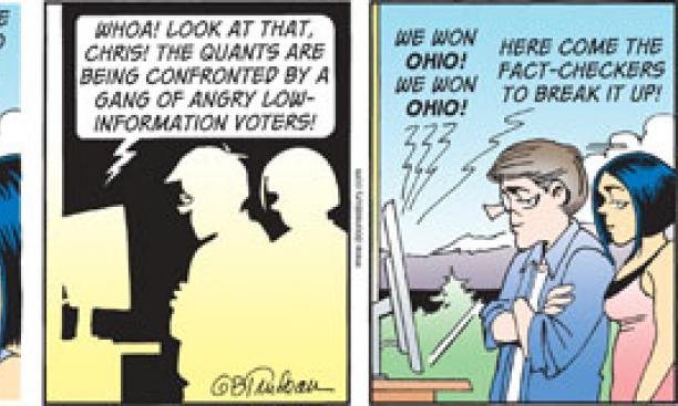 "Mellman was called a ""prince of polling"" in G.B. Trudeau's ""Doonesbury"" comic strip Nov. 23, 2012."