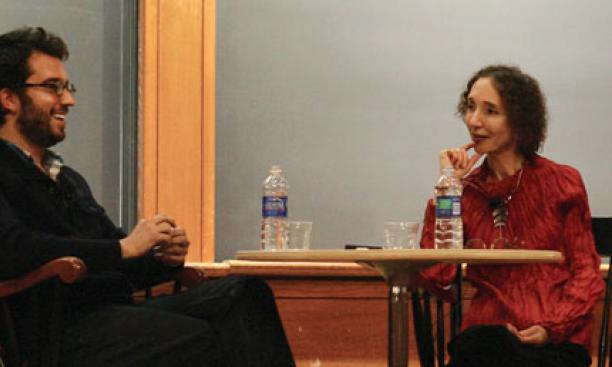Jonathan Safran Foer '99 talks with Joyce Carol Oates.