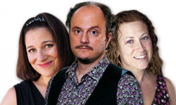 From left, Jennifer Weiner '91, Jeffrey Eugenides, and Jodi Picoult '87