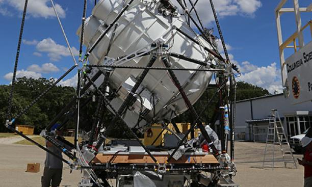 The package of scientific instruments for Princeton's Antarctic balloon-flight project.