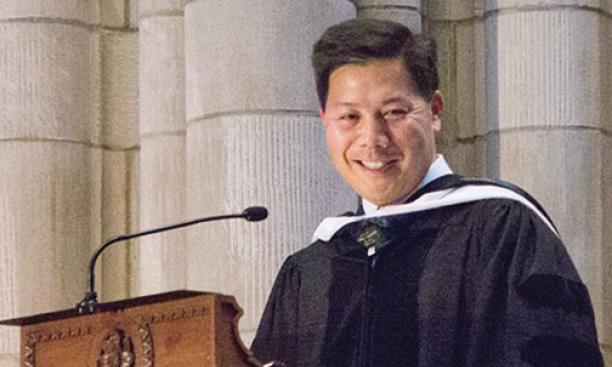 Baccalaureate speaker Christopher Lu '88