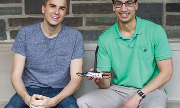 Charlie Marsh '15, left, and Shubhro Saha '15 developed Jasper, a customizable open-source platform for voice computing.