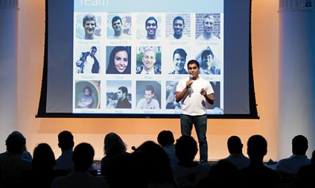 Vaidhy Murti '15 describes the growth of the Friendsy social network.