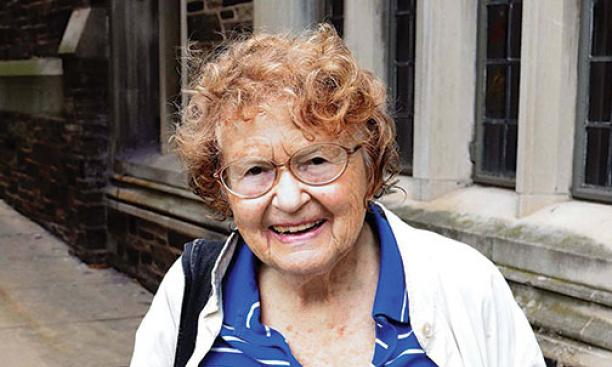 """I had my 90th birthday about two weeks ago, so we had a party. ... Something that may interest you is that I went to MIT. I was the fifth woman to get a Ph.D. in mathematics. And what brings me here is I always come to Princeton to use the library, to"