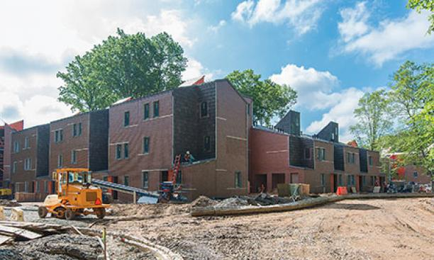 Lakeside housing units under construction at the end of May.