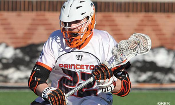Midfielder Tom Schreiber '14 leads the No. 19-ranked men's lacrosse team in goals and assists.