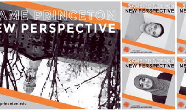"Tilted Facebook images of students and Nassau Hall reinforce the PPP's ""new perspective"" message."