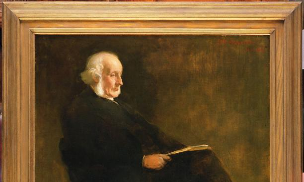 President James McCosh at 75, painted from life by John White Alexander. (Click on photo for larger image.)