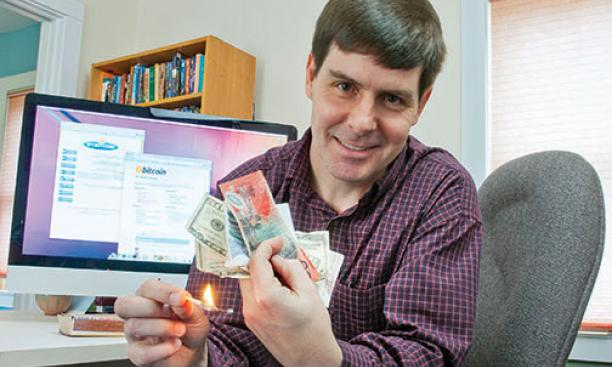 Gavin Andresen '88 is working to make Bitcoin more efficient and secure.