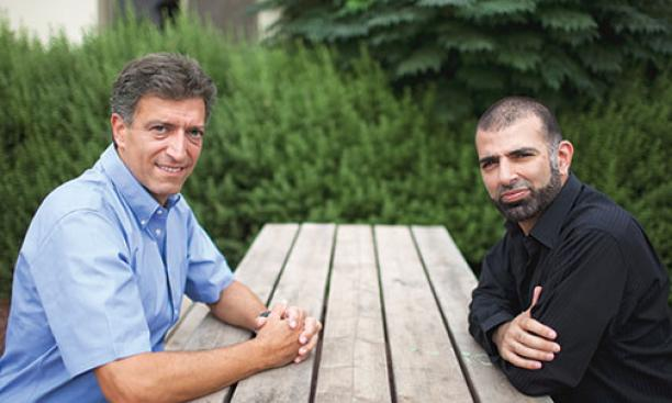 Yadin Kaufmann '80, left, runs Sadara Ventures, the first investment fund to focus on Palestinian technology companies, which he founded with a Palestinian partner, Saed Nashef.