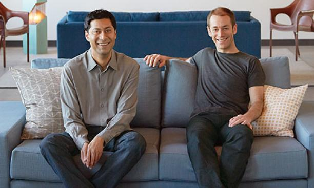 Kunal Sarkar '00, left, and Mike Scanlon '01 founded the games website Lumosity.