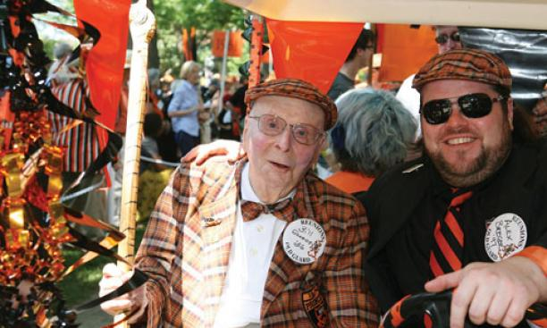 Bill Scheide '36, 99, was the oldest alum to attend Reunions.