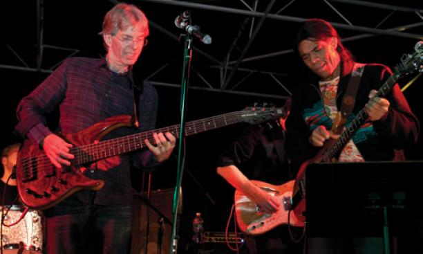 Phil Lesh p'12, left, and Stanley Jordan '81