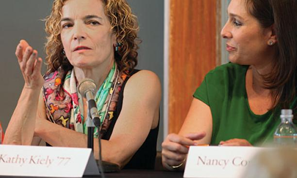 From left: Kathy Kiely '77 and Nancy Cordes *99