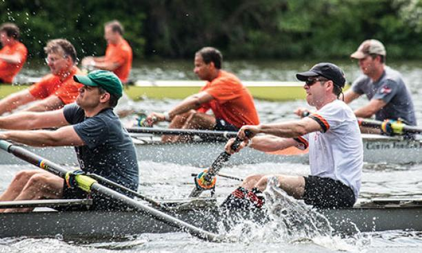 On Saturday morning, rowing alumni returned to the water for the annual Battle of the Decades at Lake Carnegie.