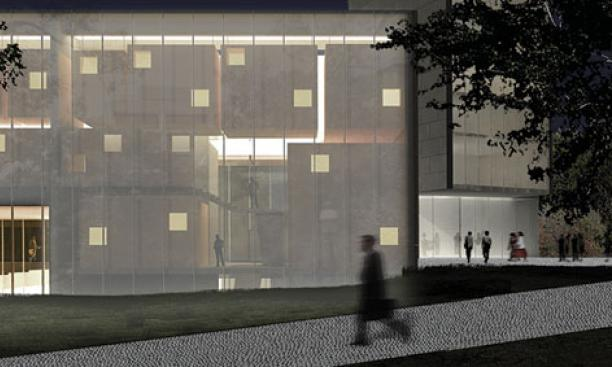 LEWIS CENTER FOR THE ARTS: Expected completion in 2017, Steven Holl Architects. 139,000