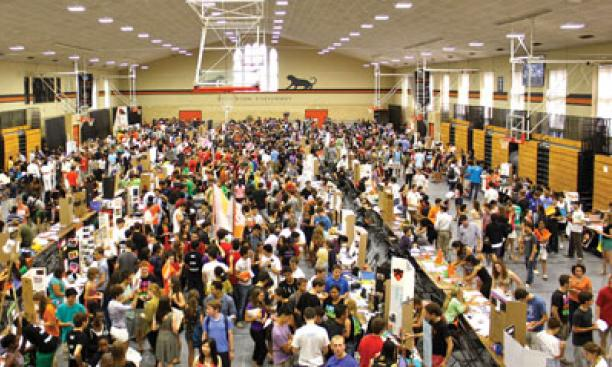 If there's an interest, there's a club. Student organizations recruit new members at the Activities Fair in September.
