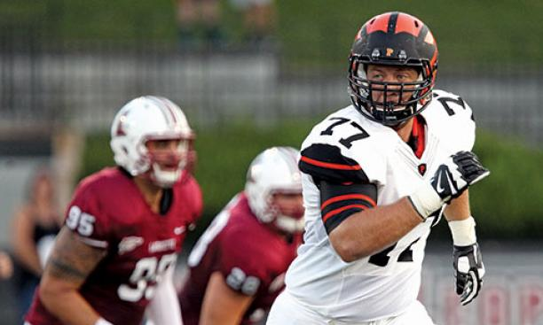 Mason Darrow '17 is the only openly gay player in Division I football.