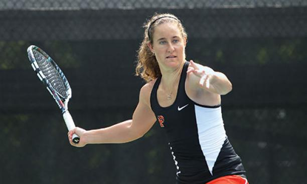 Lindsay Graff '15 played in Princeton's top singles spot for the last three seasons.