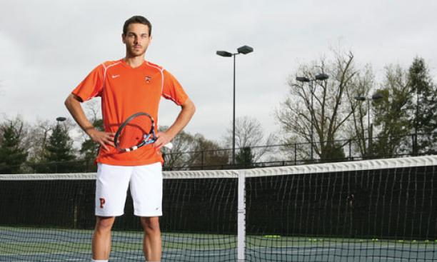 On arriving at Princeton, Matija Pecotic '13 hoped to work his way into the tennis team's lineup. He now is one of the top players in the country.