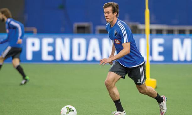 Cameron Porter '15 scored two goals in a Feb. 18 exhibition win over Mexican club Cuautla.